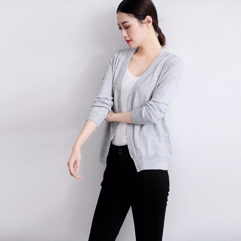 Spring autumnNEW lady Cashmere blended knitted Cardigan