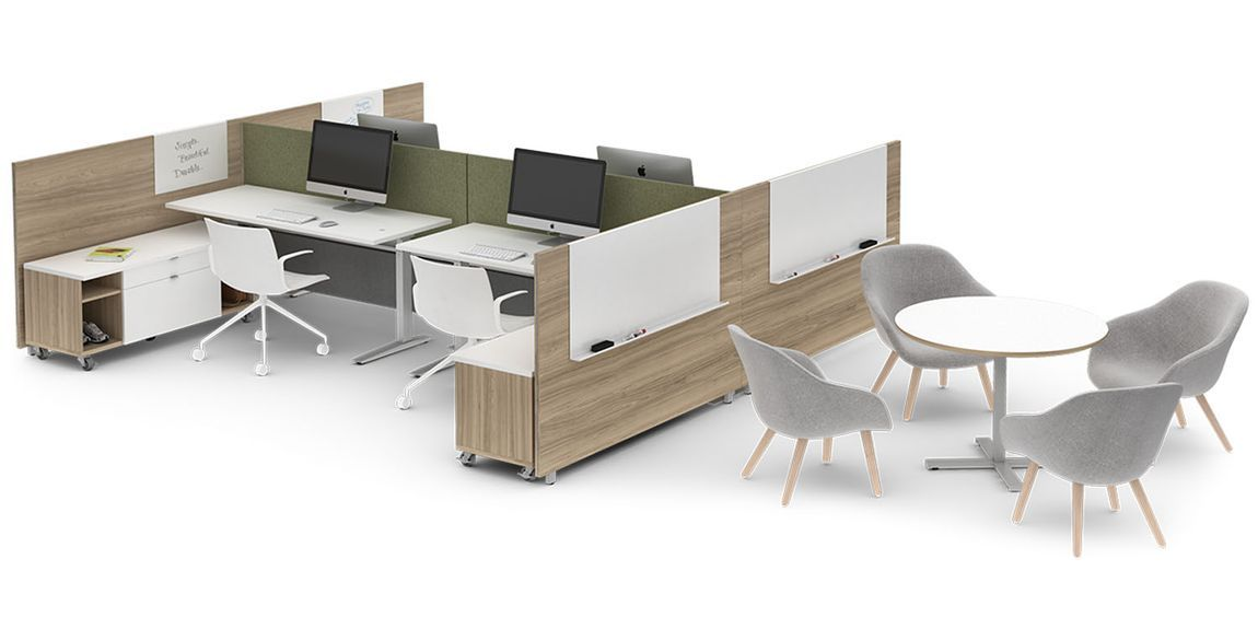 Modular Office Furniture Modern Workstations Cool Cubicles Sit Stand Benching Systems Contemporary Office