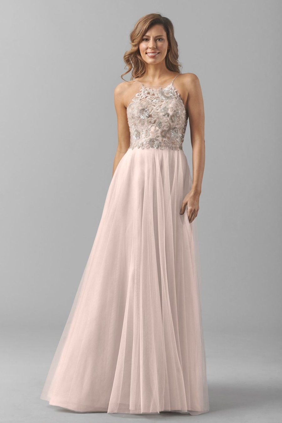 Get the look taylor swift 39 s blush gold reem acra maid for Maid of honor wedding dresses