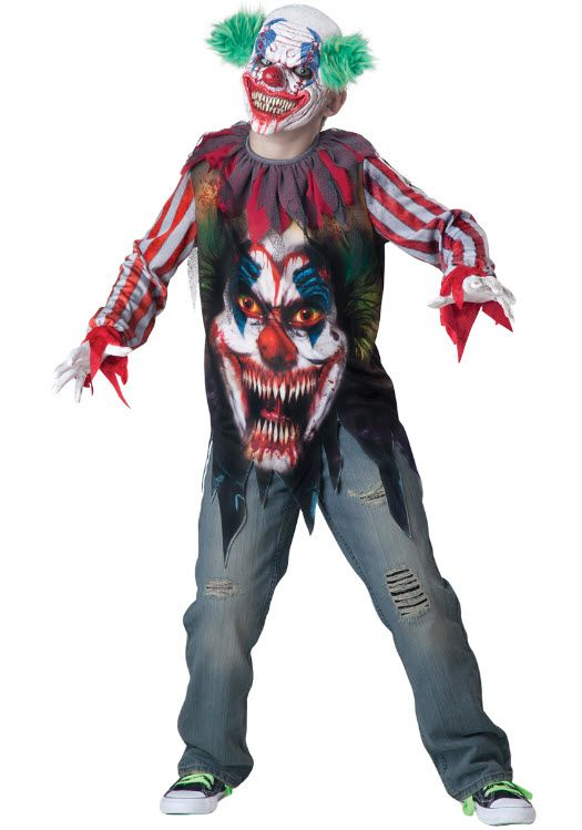 clown big top terror jester halloween costume this scary clown will bring you back to killer clowns from outer space big top terror boy costume includes - Halloween Scary Costumes For Boys