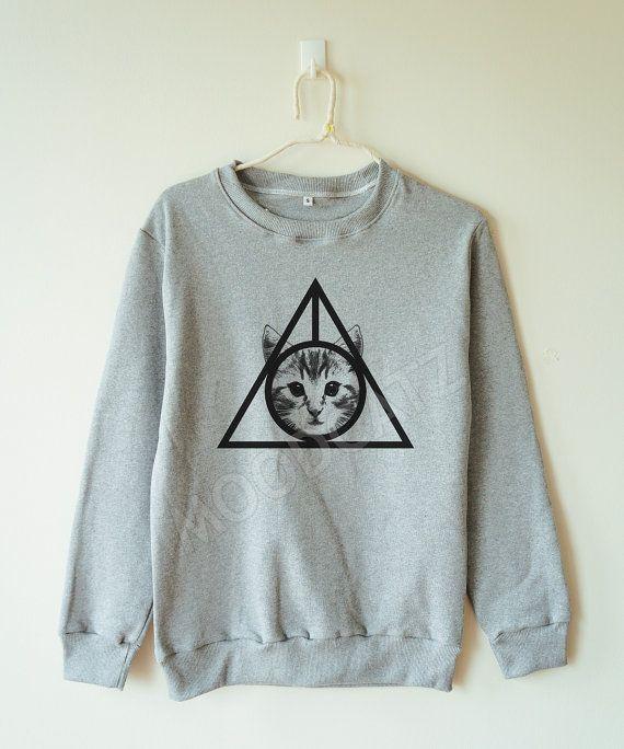 Triangle cat tshirt triangle shirt funny cat tee by MoodCatz