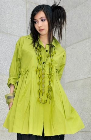 Empire Shirt in Lime Carnaby