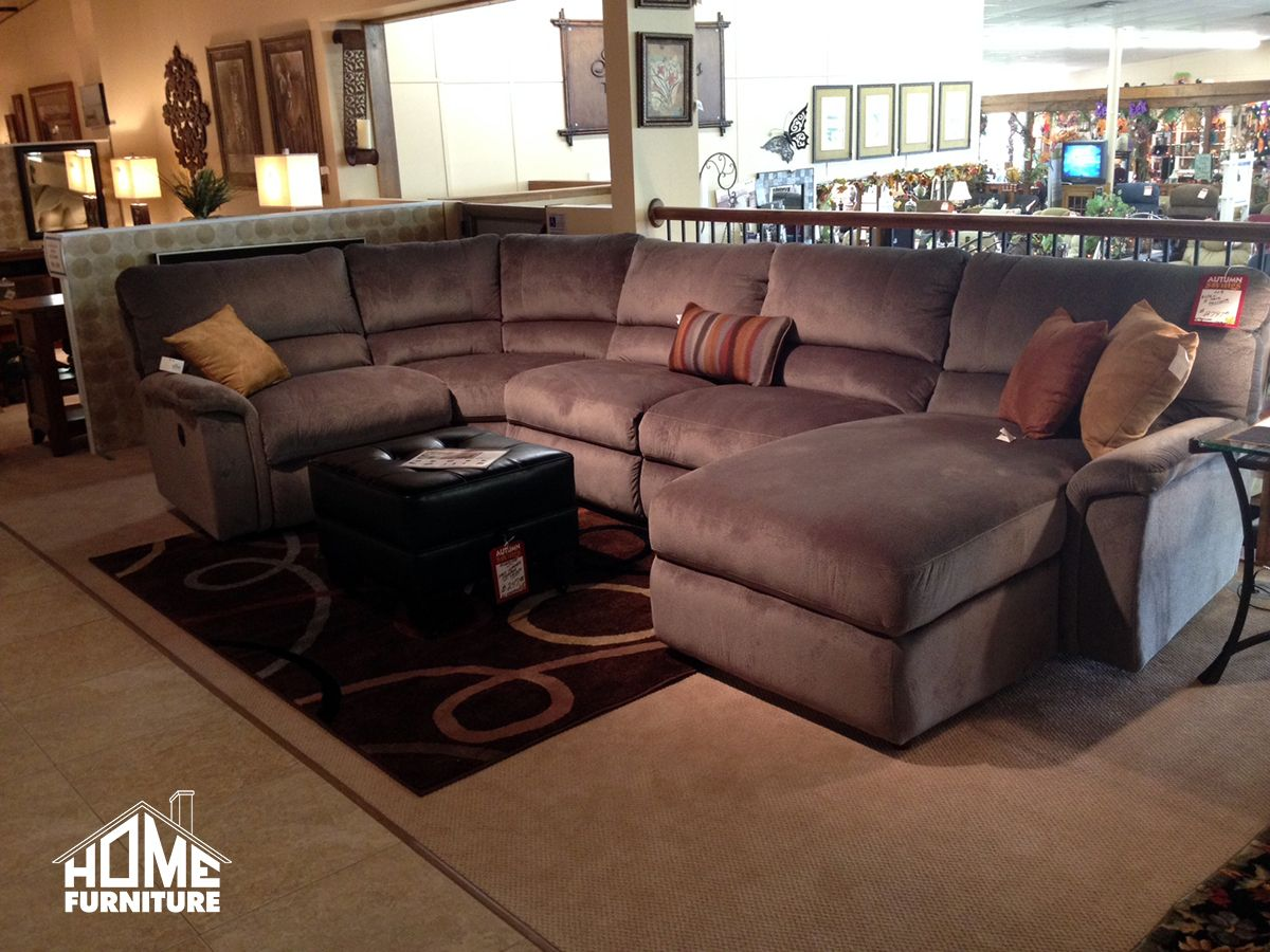 The La-Z-Boy u0027Aspenu0027 Sectional now on our showroom floor! : la z boy leather sectional - Sectionals, Sofas & Couches