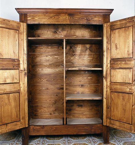 Come costruire un armadio in legno. Foto, disegni e misure ...