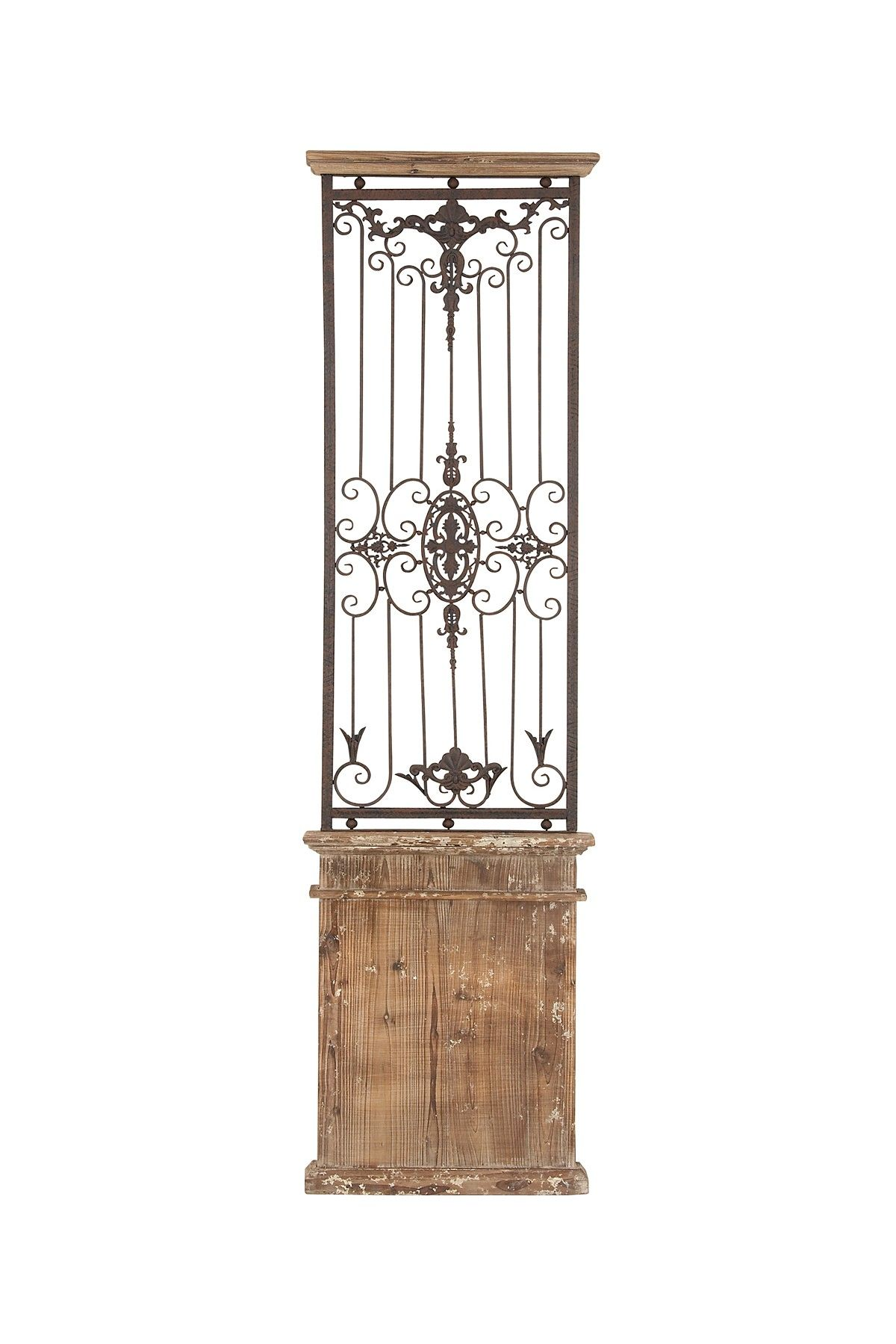 Iron And Wood Decor Coastal Living Decor Metal Wood Wall Gate  For The Home
