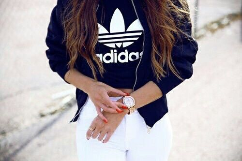 adidas, clothes, girls, hair, tumblr - image #3597778 by helena888 .