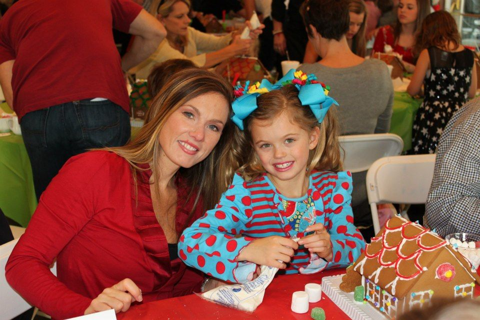 Having a blast at the Greenbrier Golf & Country Club gingerbread party!