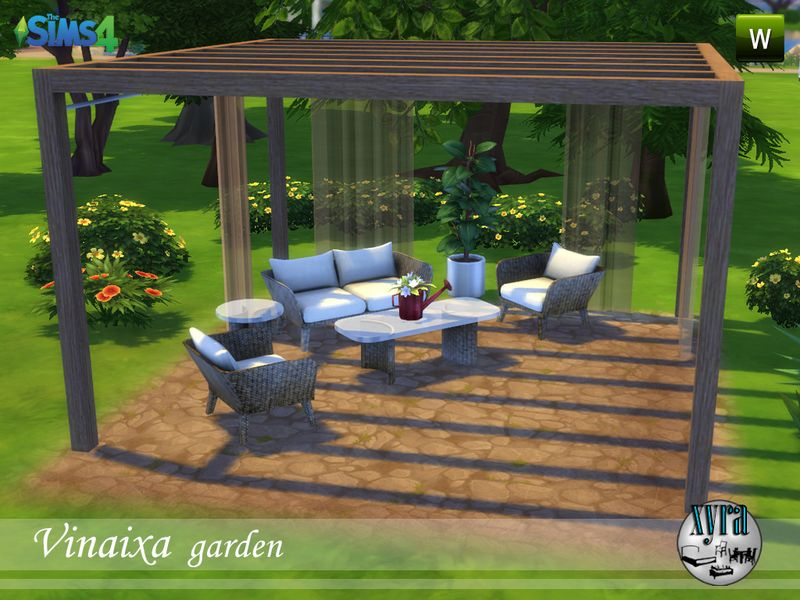 Seat Coffee Table Side And Awning Everything Is New Meshes Created By Me They Are In 2 Different Colors To Place The It