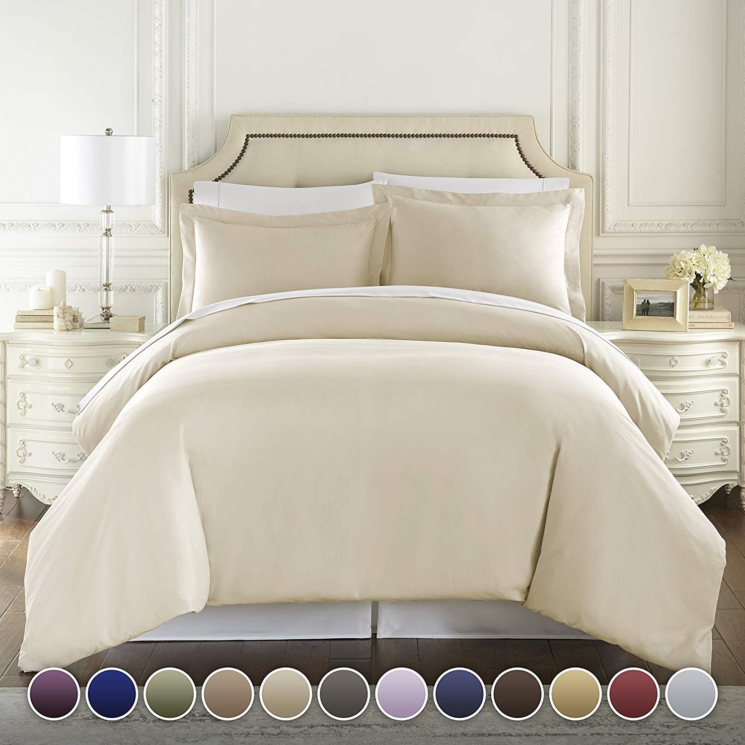 Amazon.com: 1500 Thread Count Egyptian Quality Duvet Cover set, King Taupe: Home & Kitchen ...