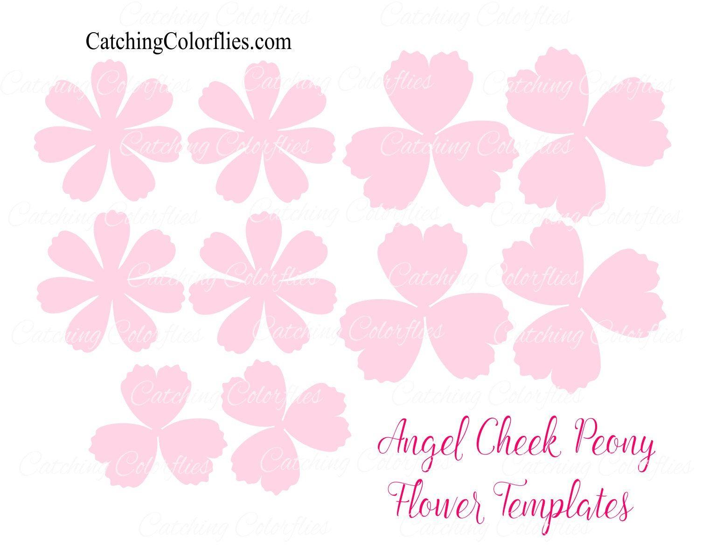 Tulip peony paper flowers diy paper flower patternstemplates angel cheek peony paper flowers svg files pdf templates with video tutorial links mightylinksfo