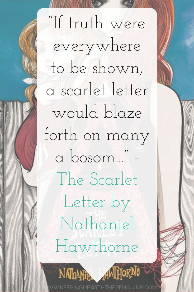 The Scarlet Letter Nathaniel Hawthorne Book quotes