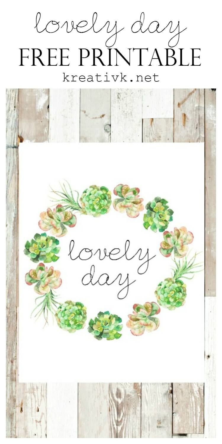 Lovely Day Free Printable | paper/printables/stencils | Templates