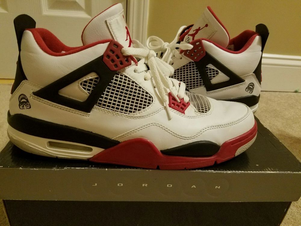 quality design 25410 aa330 Air Jordan 4 Retro Fire Red