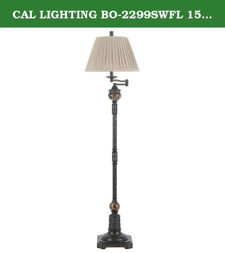 Cal Lighting Bo 2299swfl 150 Watt 3 Way Aberdeen Swing Arm Metal Resin Floor Lamp Traditional Antique Bronze Finished S Swing Arm Floor Lamp Cal Lighting Lamp