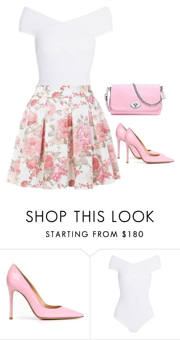 """""""Outfit #43"""" by sunshine24-7-1 ❤ liked on Polyvore featuring Gianvito Rossi, Alix, Dorothy Perkins and Coach"""