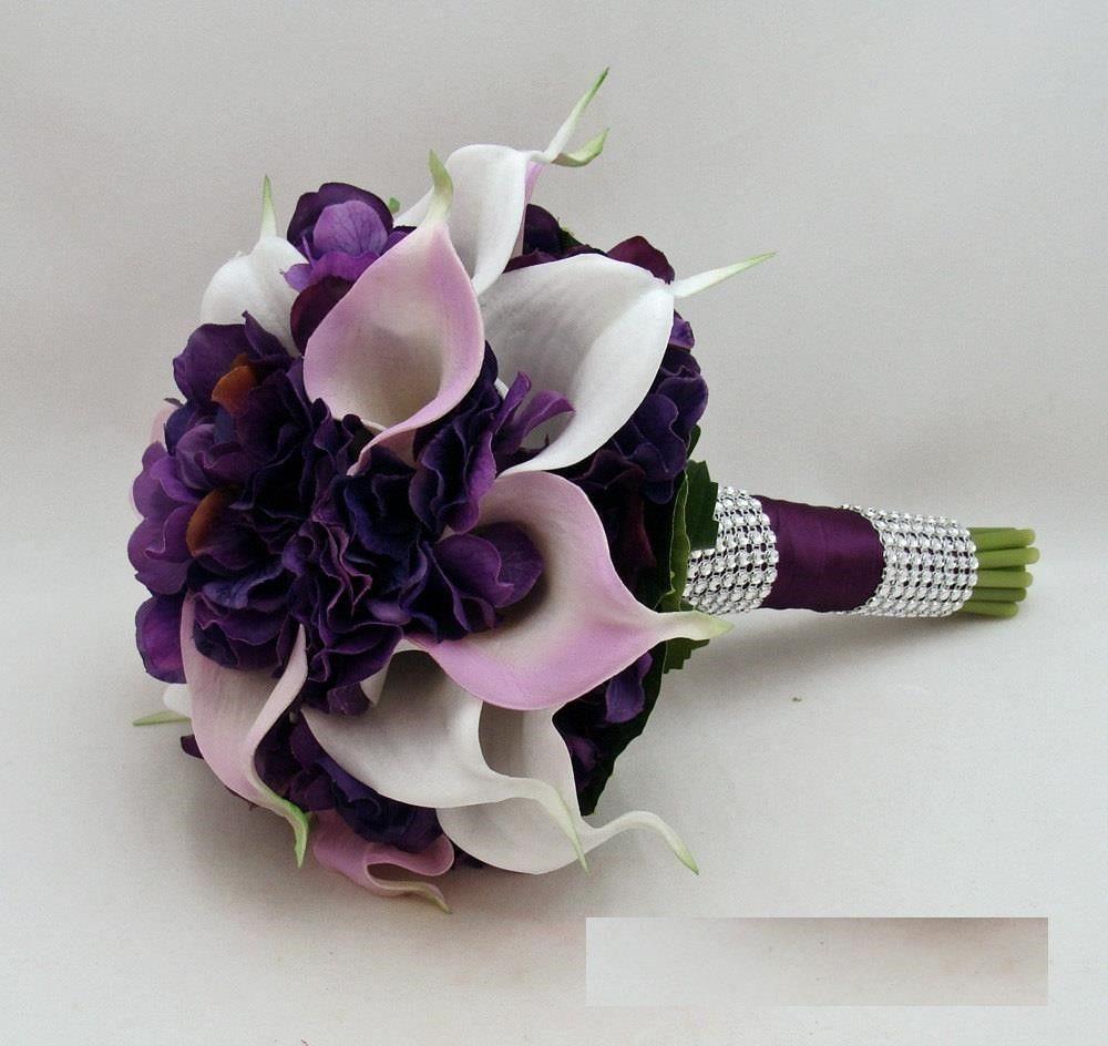 Dark Purple And White Wedding Flowers Wedding Flowers Pinterest