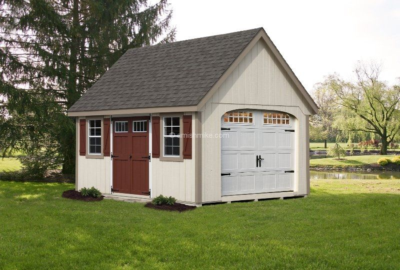 12 X 16 Lincoln Garage Navajo Amish Sheds Shed Storage Shed