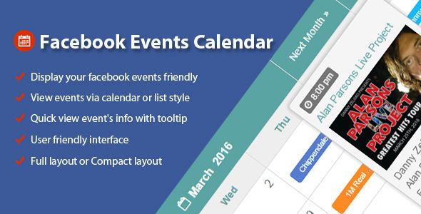 Facebook Events Calendar For Wordpress  HttpsCodeholderNet