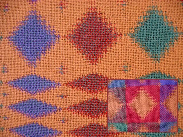 Patterned Double Weave Sample 3