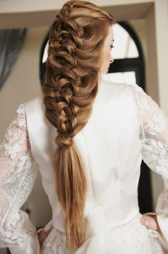 длинная коса на свадьбу