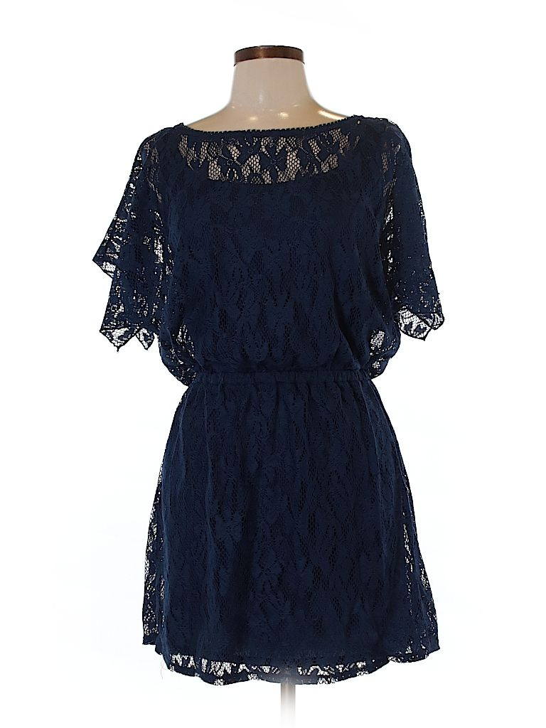 Casual dress blue dresses wraps and navy blue