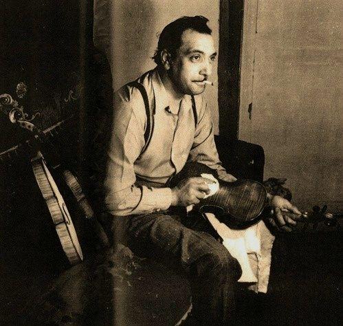 Rare photo of DJANGO REINHARDT...