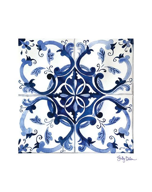 Blue Talavera Print Moroccan Tile Art Tile Wall Art Blue Etsy Tile Art Etsy Wall Art Tile Wall Art