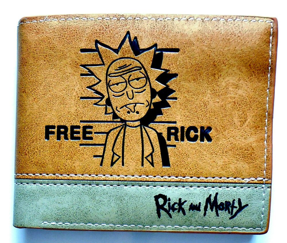 Details about rick and morty tv show wallet purse 9 credit