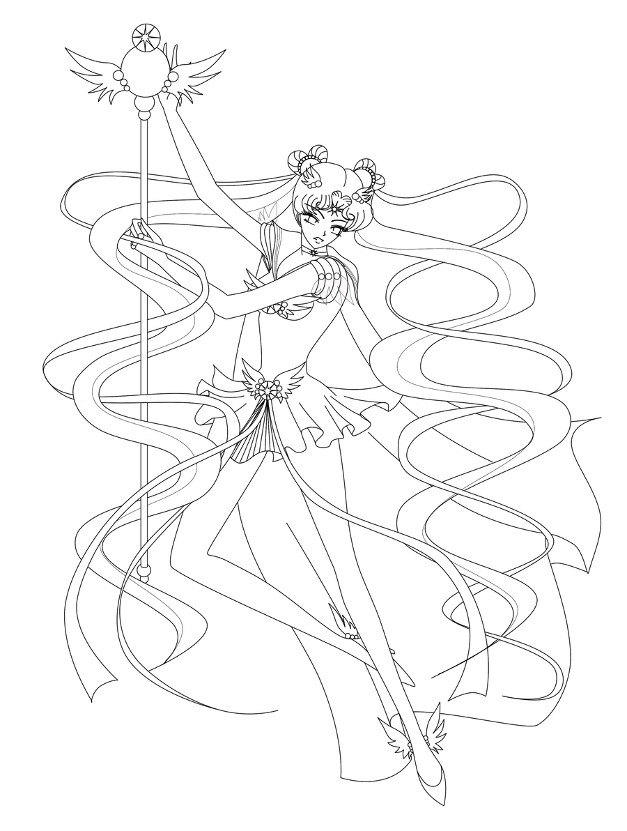 Sailor Cosmos Lineart By Silver Eyes Blue On Deviantart Lineart