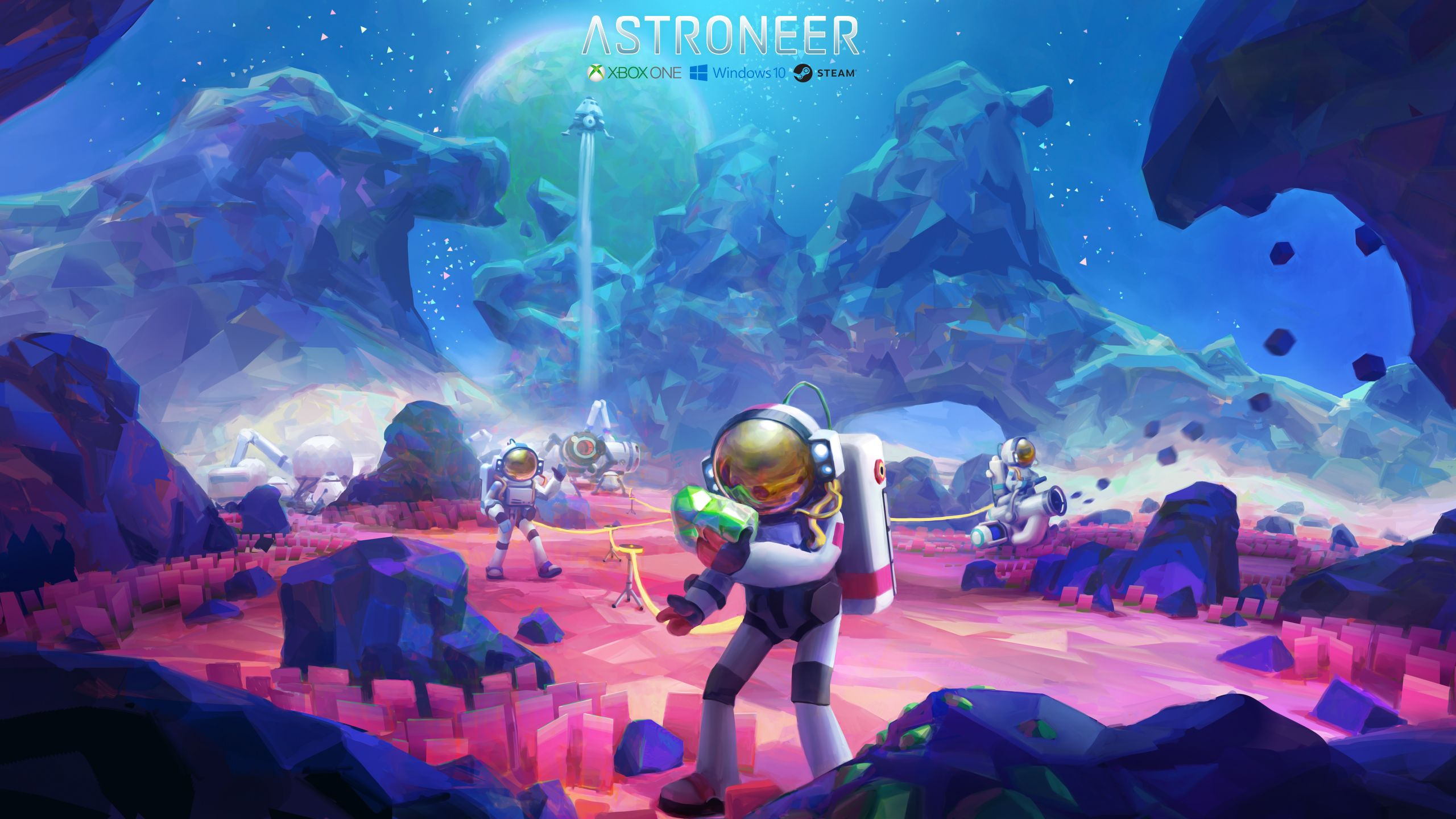 Astroneer Wallpaper 1440p 02 Jpg 2560 1440 Sky Artwork Environment Concept Art Concept Art