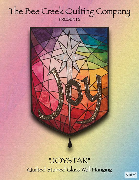 Joy Banner Quilted Stained Glass Pattern READY TO SHIP. $12.99 ... : quilted church banners - Adamdwight.com