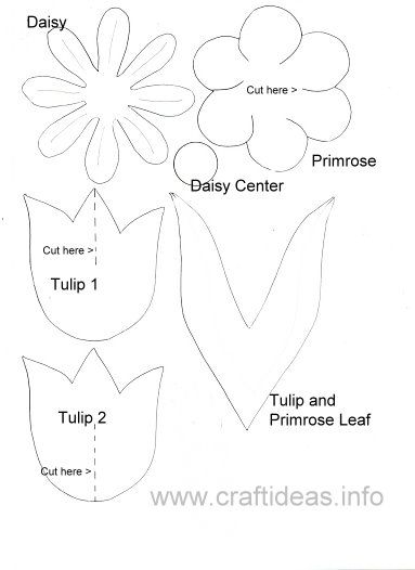 mothers day flower templatethis craft would be great for an - Kids Craft Templates