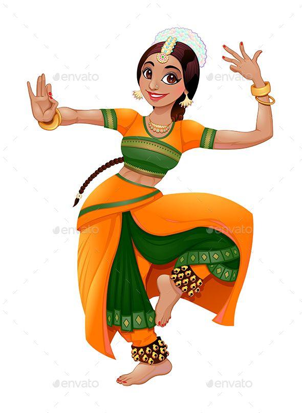 Indian Dancer Indian Illustration Indian Folk Art Indian Drawing