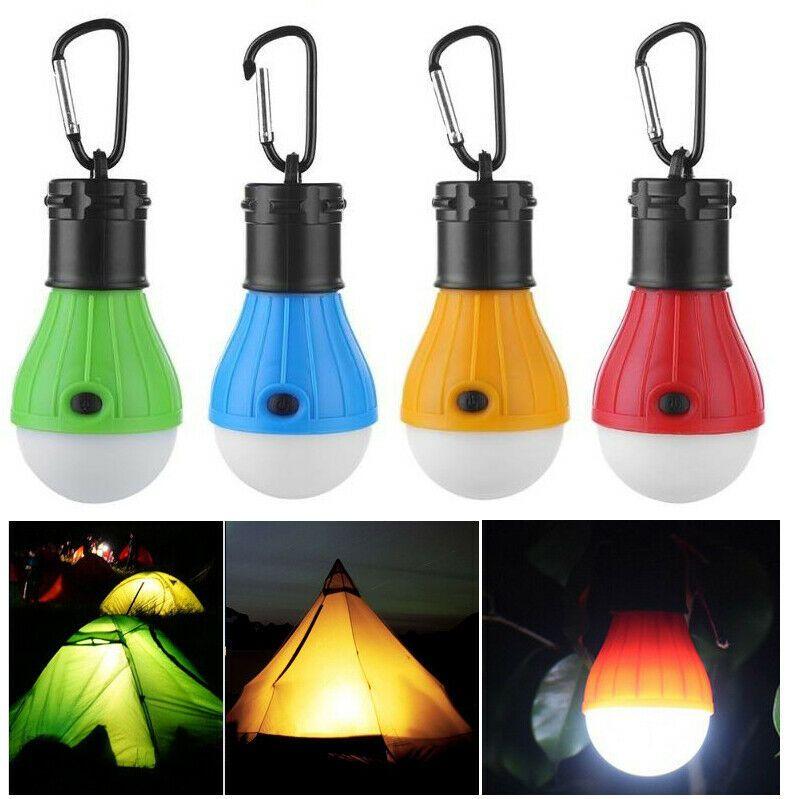 Emergency Lamp Tent Light Lantern 3 Led Portable W Hook Outdoor