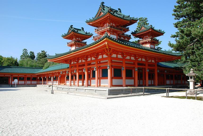 Kyoto en couleur. Kyoto Heian-jingu. http://www.histoire-de-voyager.com