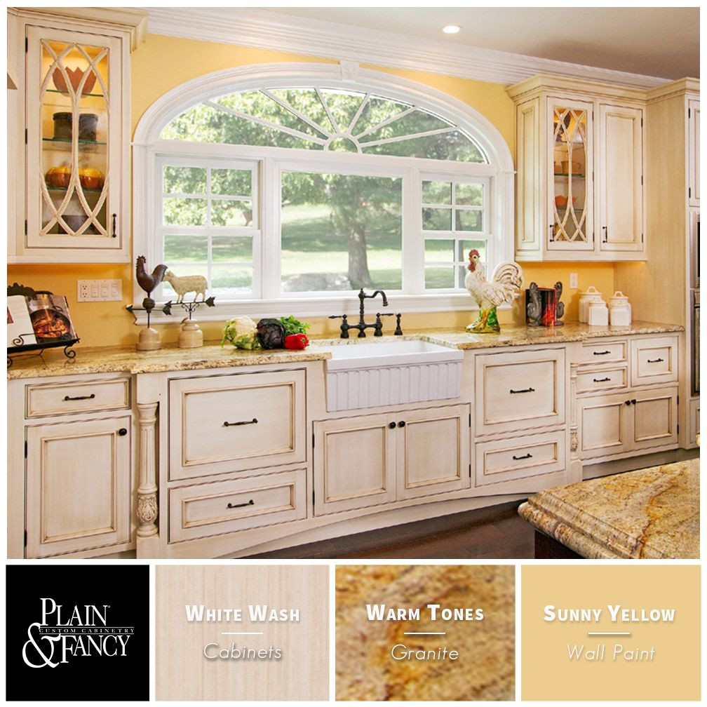 We Love This French Country Kitchen Color Palette With Warm Tones Like White Wa French Country Kitchen Cabinets Country Kitchen Cabinets Country Kitchen Colors