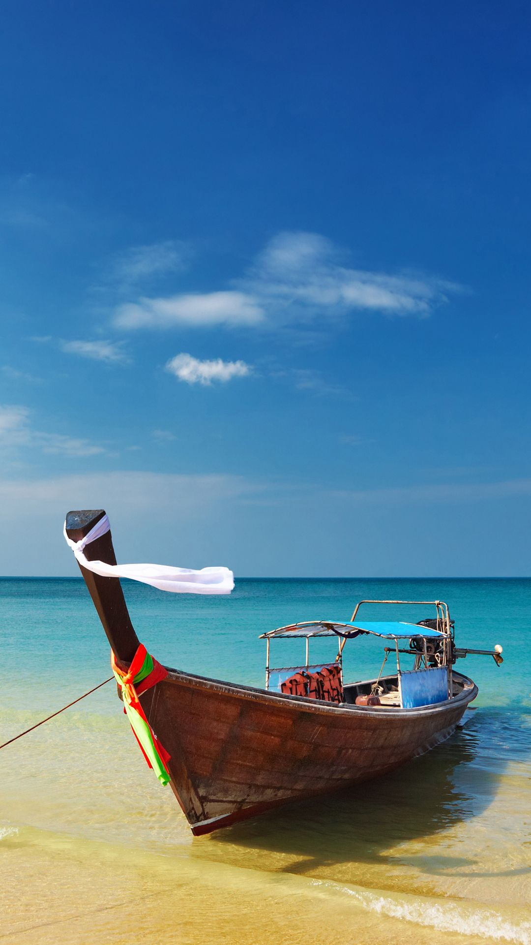 Thailand Beach Shore Boat Android Wallpaper Androide