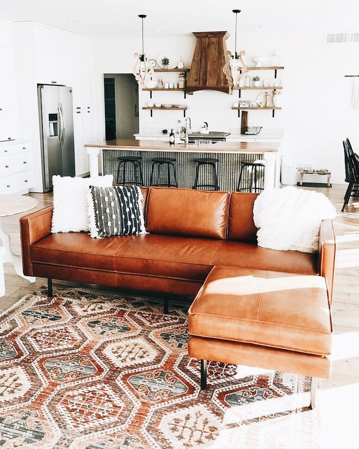 I Really Like The Idea Of Brown Leather Couches Couches Living