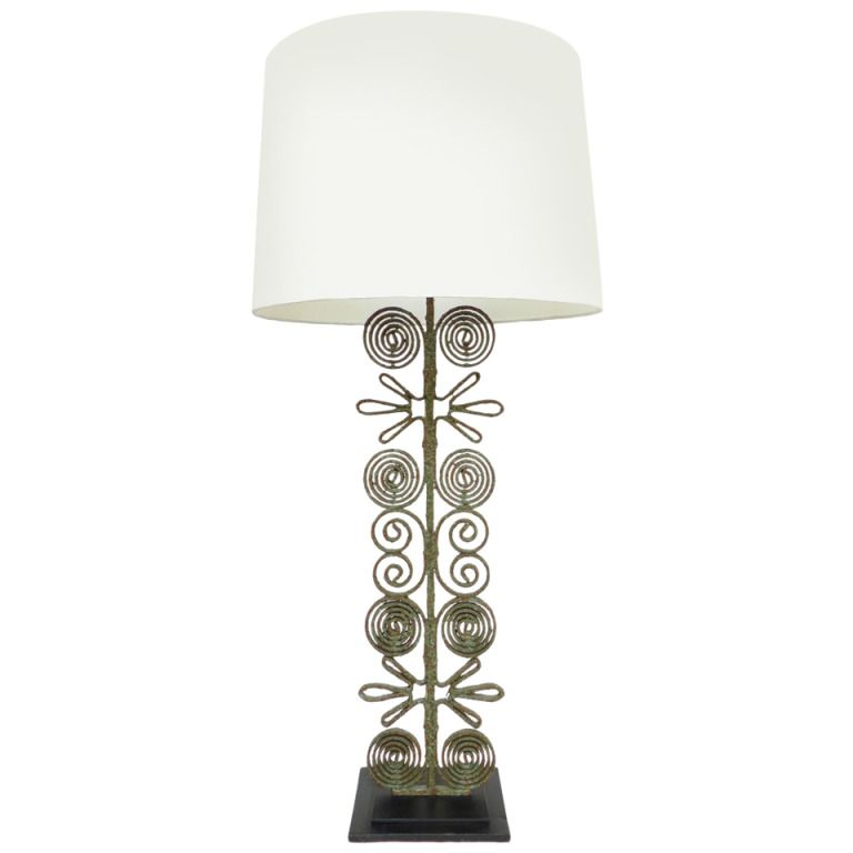 Spectacular Wrought Iron Table Lamp With Images Wrought Iron