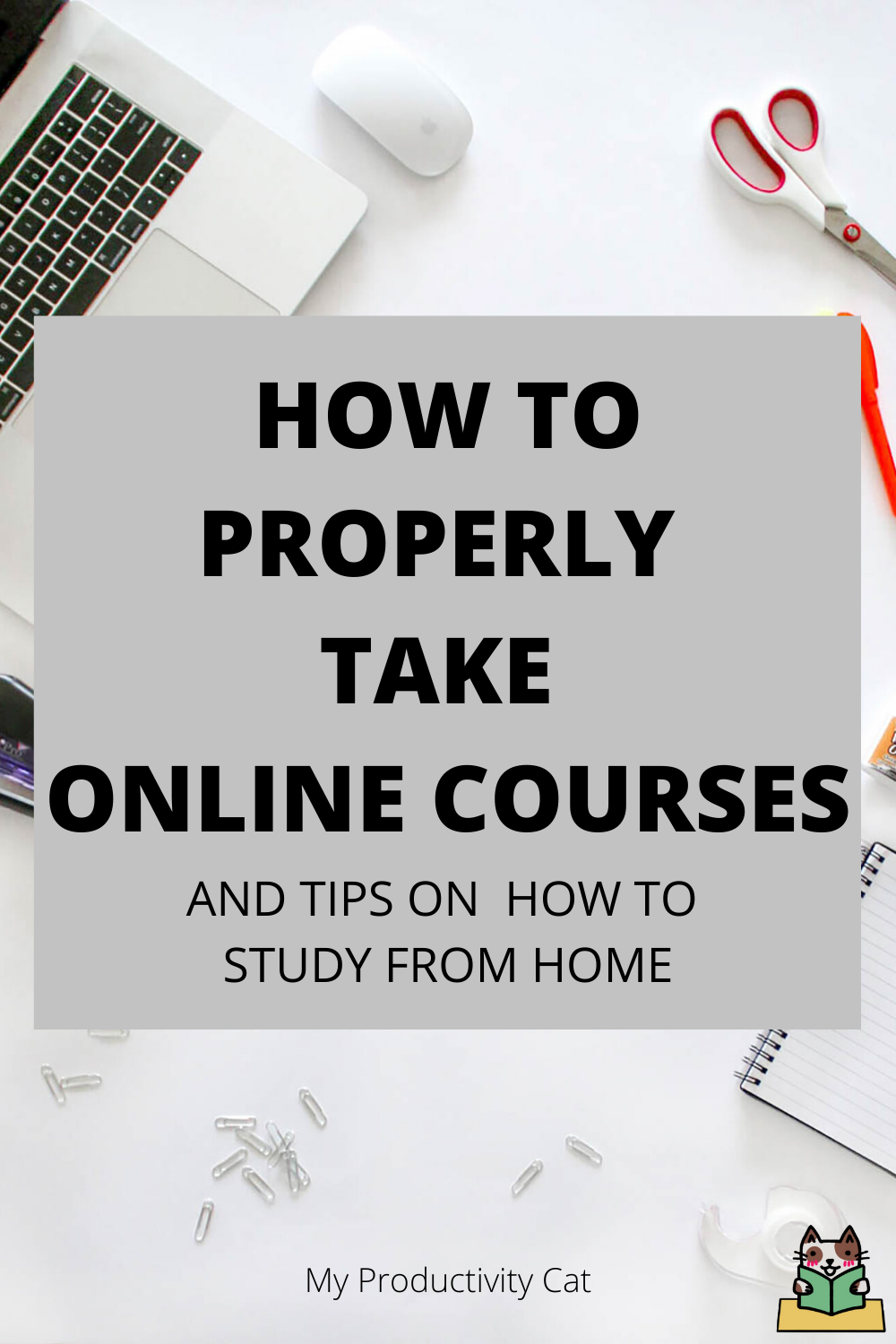 Helpful tips for students who are attending school through online classes or studying from home. #onlineclass #school #studying #productivity
