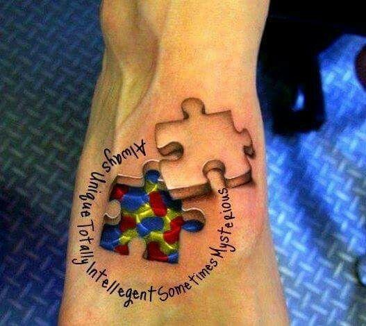 Autism Quotes For Tattoos Quotesgram: Cool Autism Tattoo