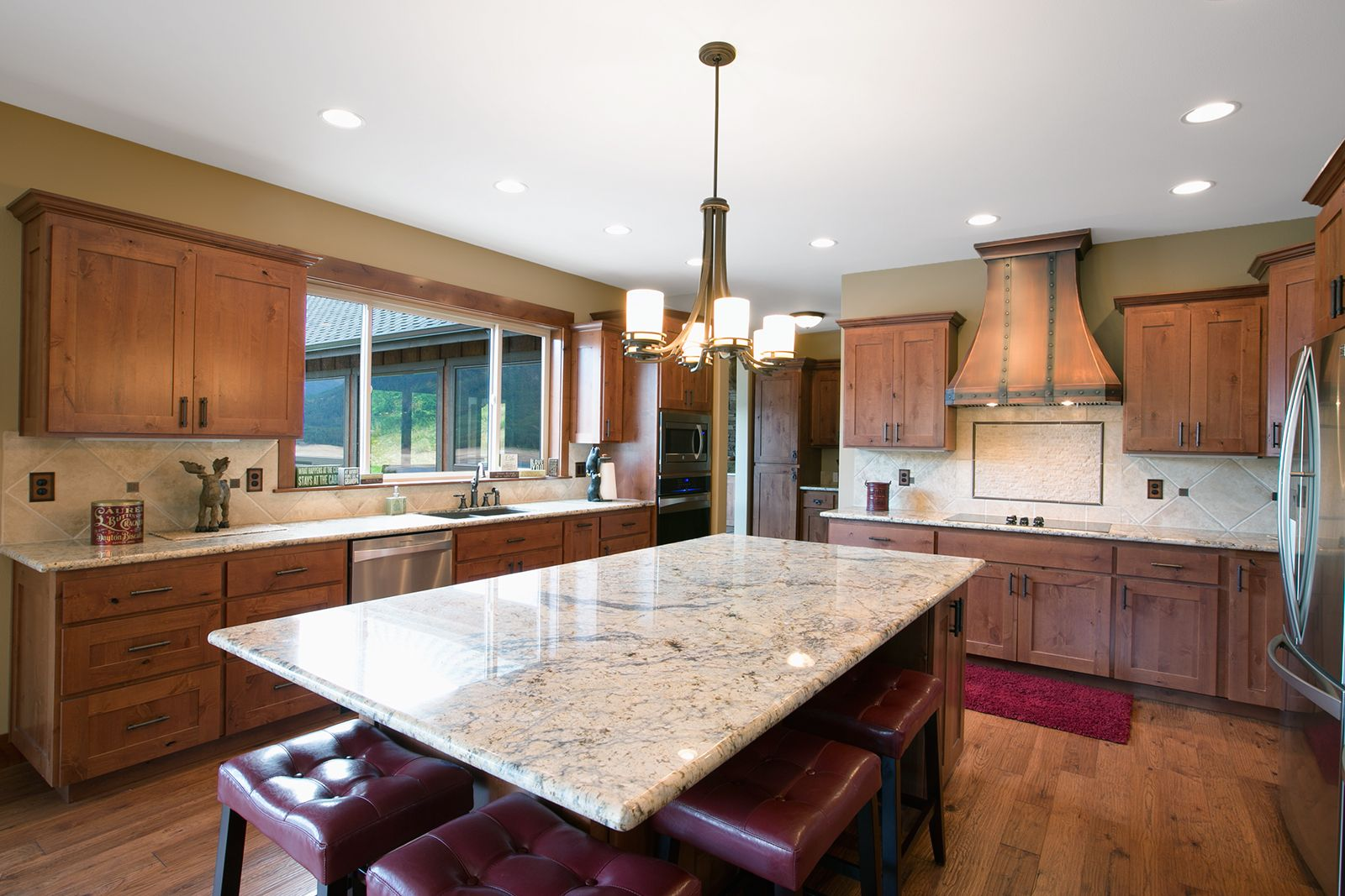 This Open Kitchen Features A 4 X8 Island And Two Sides With Seating