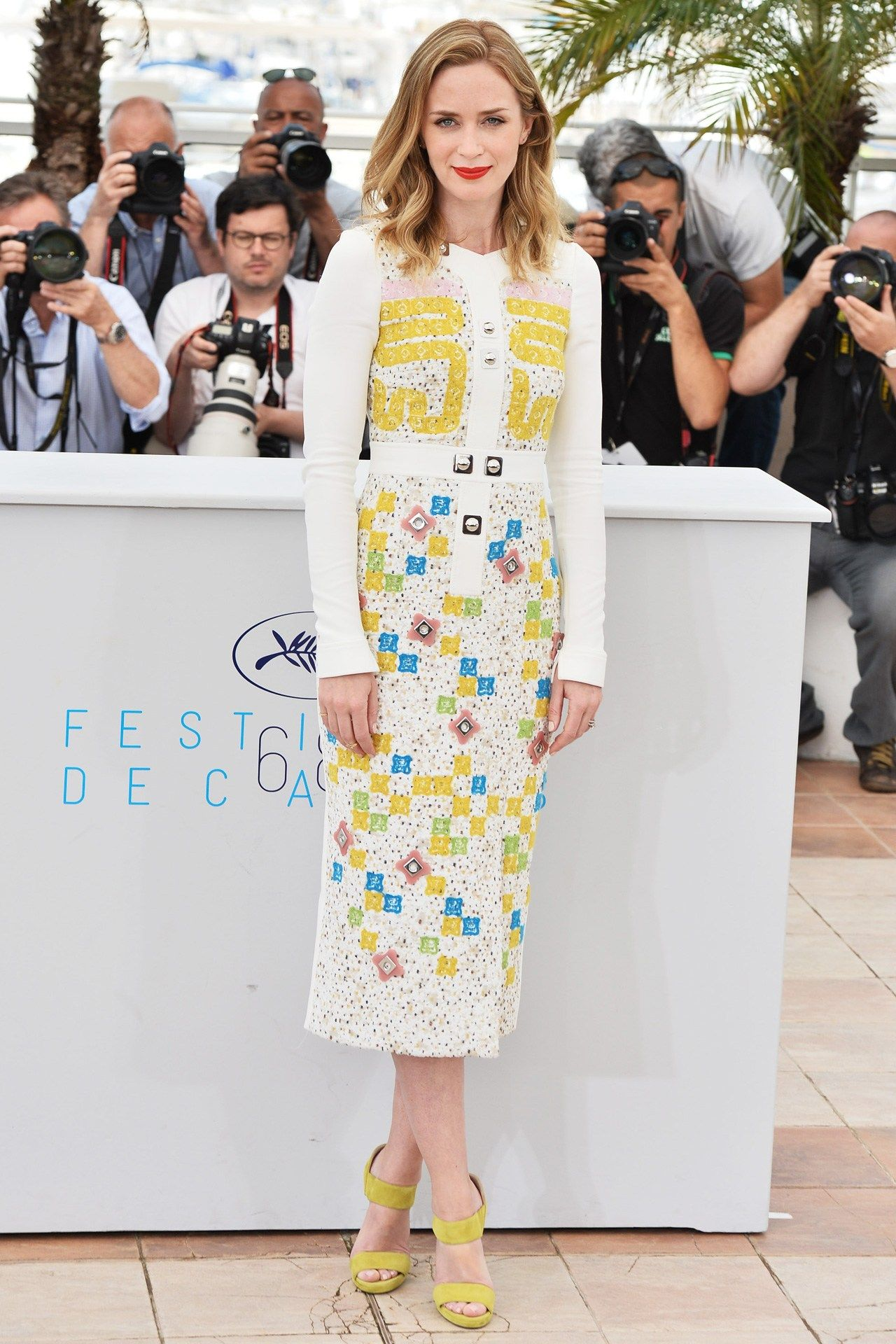 Cannes Film Festival - Emily Blunt in a Peter Pilotto dress. Click through for the full gallery