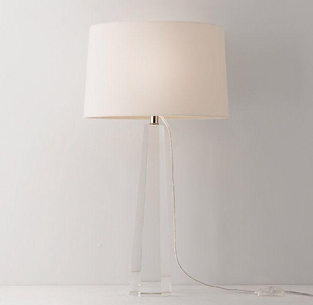 RH Teen Laine Crystal Table Lamp Base $126