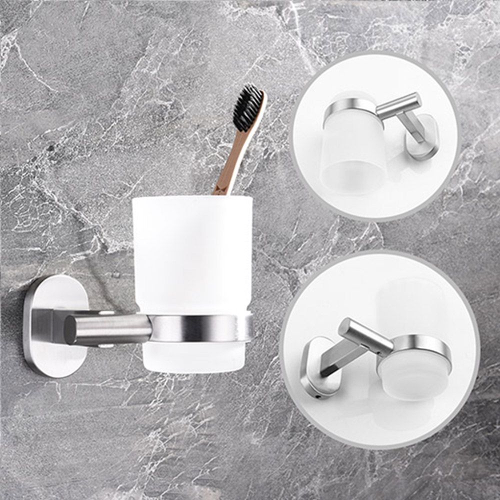 Wall Mounted Single Toothbrush Cup Holder Bathroom Accessory - Bathroom cup holders wall mount for bathroom decor ideas