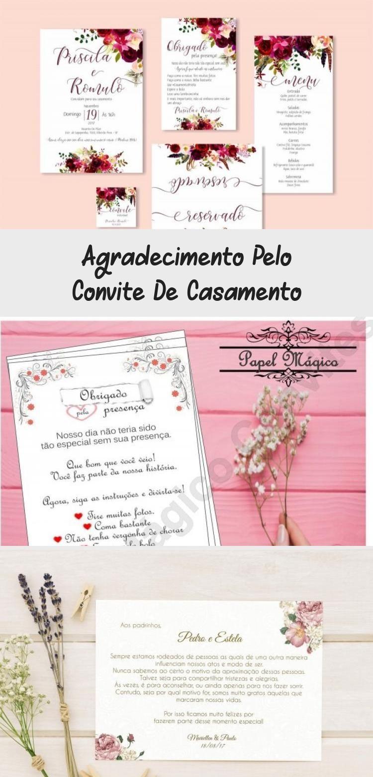 Agradecimento Pelo Convite De Casamento