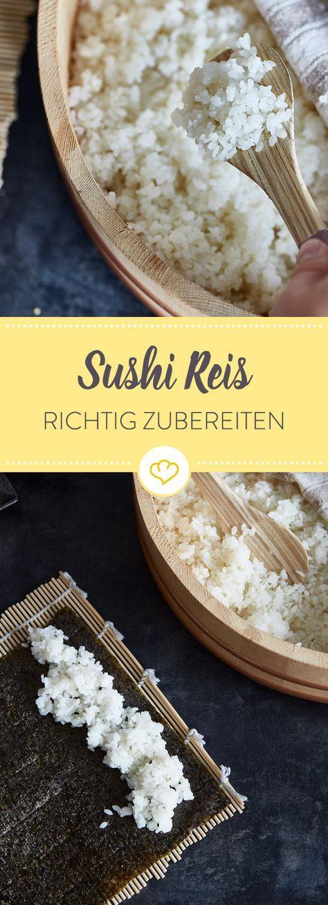 Sushi Reis kochen. Das originale Rezept zum selber machen.