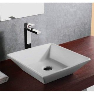 16 European Style Slope Wall Shape Porcelain Ceramic Bathroom Vessel Sink Inch White Size 25