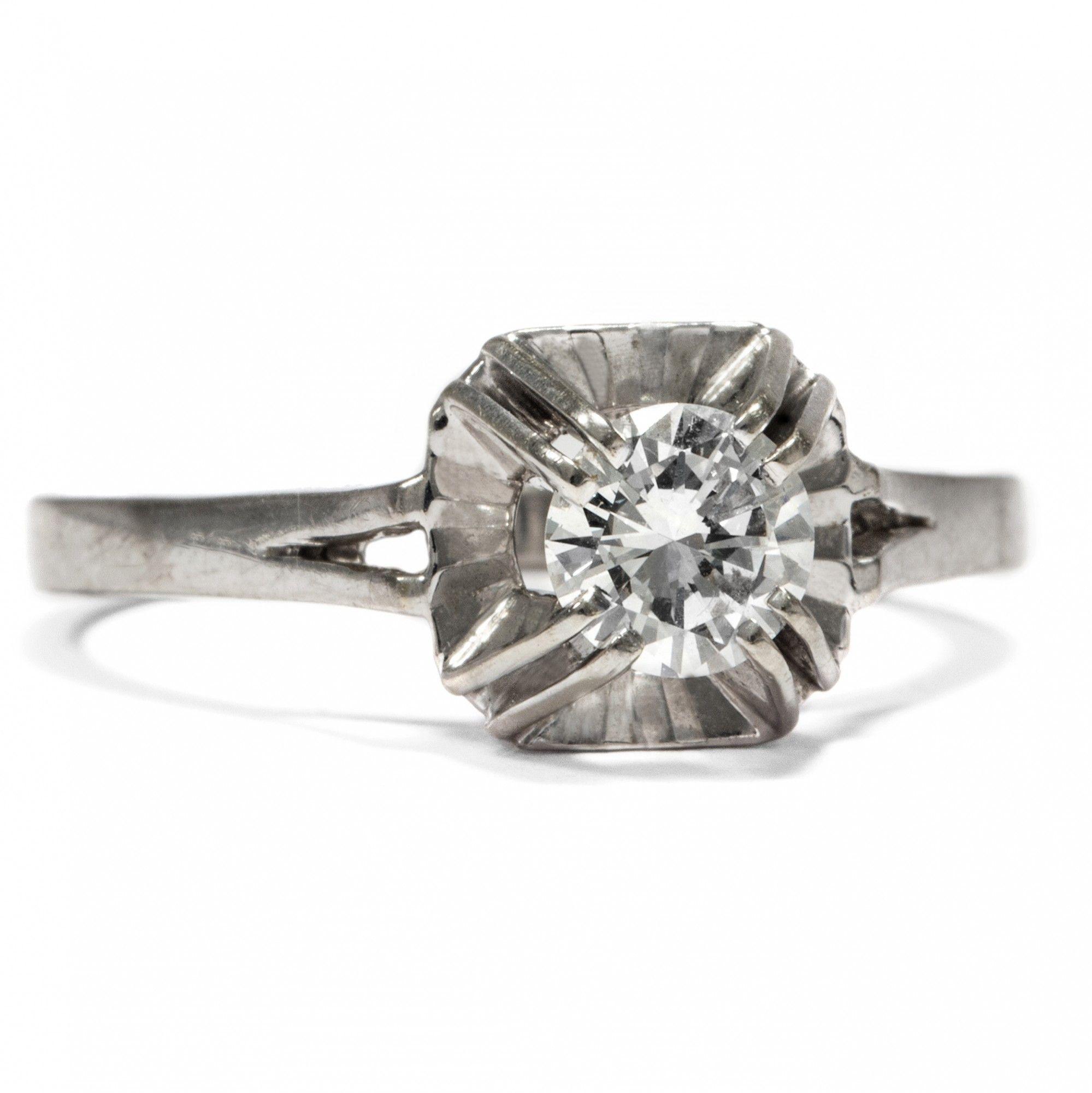 Ganz Paris Traumt Von Der Liebe Vintage Diamant Solitar Mit 0 48