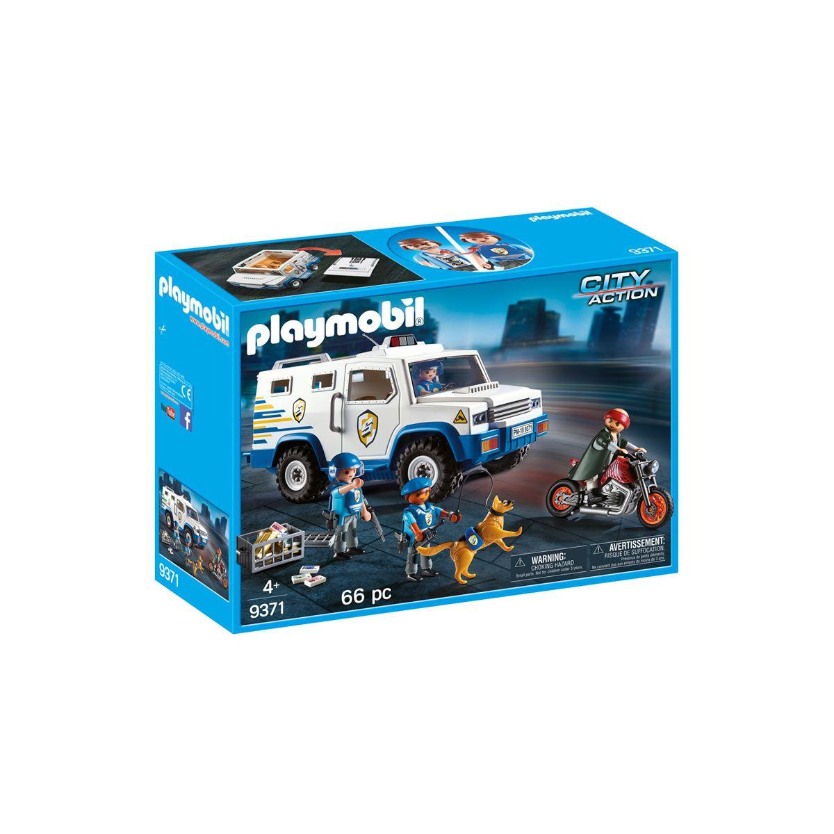 Fourgon Blindé avec Convoyeurs de Fonds Playmobil 9371
